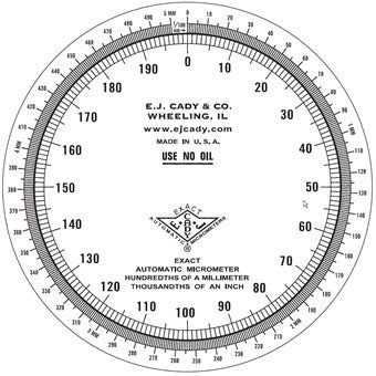 Dial MA face plate 0 1 mm &  001
